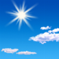 Sunny, with a high near 83. South wind 0 to 15 mph, with gusts as high as 25 mph.