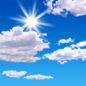 Mostly sunny, with a high near 65.