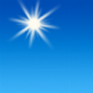 Sunny, with a high near 58. North wind 5 to 10 mph.