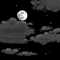 Partly cloudy, with a low around 54. Southwest wind 0 to 10 mph.